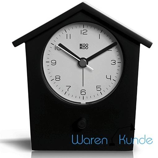 kookoo earlybird schwarz wecker vogelstimmen tierstimmen uhr early bird ebay. Black Bedroom Furniture Sets. Home Design Ideas